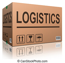 logistics carboard box - logistics freight transportation...