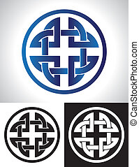 Quaternary Celtic Knot vector illustration.