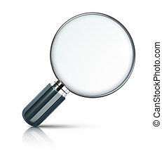 magnifying glass - illustration of magnifying glass isolated...