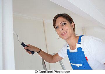 Female DIY enthusiast