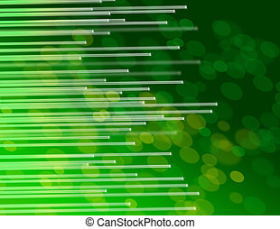 Abstract fiber optic concept - Illustration depicting the...