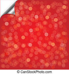 Red Backgrounds With Bokeh, Vector Background