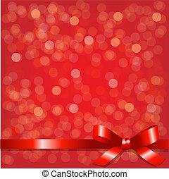 Red Backgrounds With Red Ribbon, Vector Background