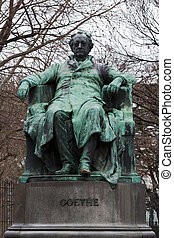 Goethe in Vienna - A sitting sculpture of the famous author...