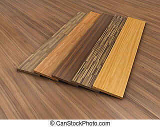 Timber floor - Illustration of a timber floor with different...