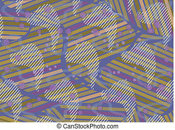 Background of various stripes - Abstract colored patchwork...