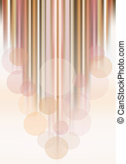 Transparent circles on colored stri - Abstract transparent...
