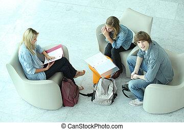 Teens with duties