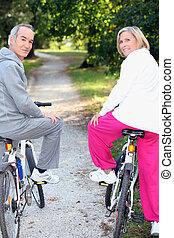 Biking for senior people