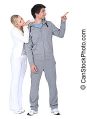 Couple in tracksuit