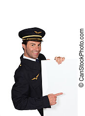 Man dressed as a captain