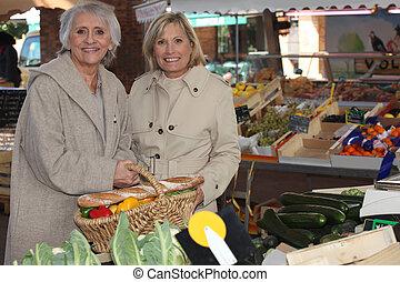Women at a market
