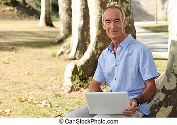 Man with computer