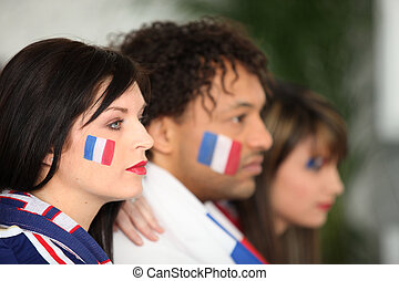 French football fans