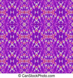 Seamless Tie Dye Pattern - Tie dye design in purple, pink,...