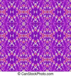 Seamless Tie Dye Pattern - Tie dye design in purple, pink,...