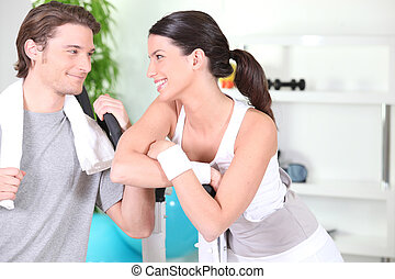 Couple in the gym
