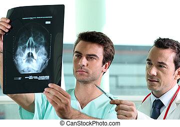 doutores, examinando, Raio X