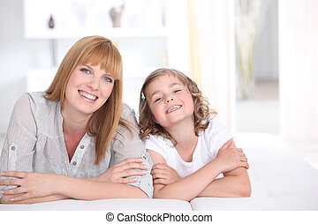 Mother and daughter spending quality time together