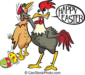 happy easter - angry cock