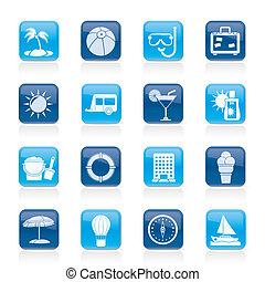 Vacation and holiday icons