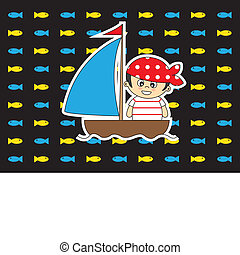 Child dressed as a pirate card