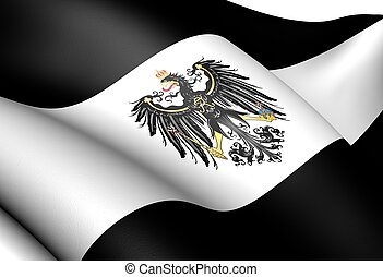Kingdom of Prussia Flag 1701-1918 Close Up
