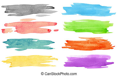 Watercolor strokes - Watercolor hand painted brush strokes