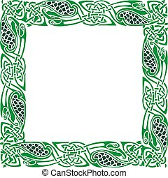 Celtic Ornament Border - Abstract Celtic patterns with...
