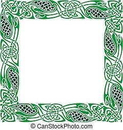keltisch, Verzierung, umrandungen