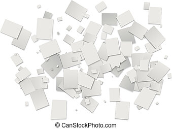 white rectangles background - Overlapping rectangles...