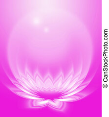 Pink abstract lotus - Abstract Zen lotus