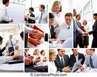 Business environment - Business people in various situations...