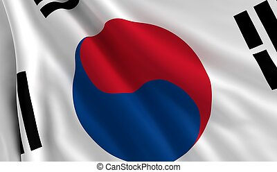 Flag of South Korea - A flag of South Korea in the wind