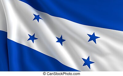 Flag of Honduras - A flag of Honduras in the wind