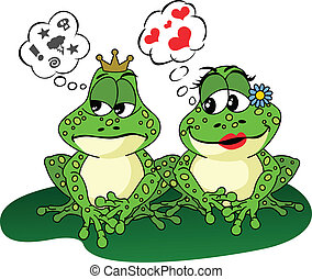 Frogs Love and Anger - Image representing a frogs love and...