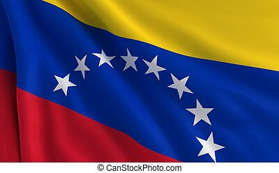Flag of Venezuela - A flag of Venezuela in the wind
