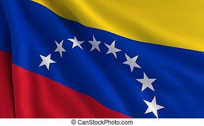 Flag of Venezuela - A flag of Venezuela in the wind