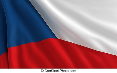 Flag of Czech Republic - A flag of Czech Republic in the...
