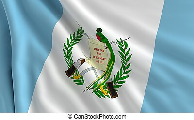 Flag of Guatemala - A flag of Guatemala in the wind
