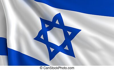 Flag of Israel - A flag of Israel in the wind