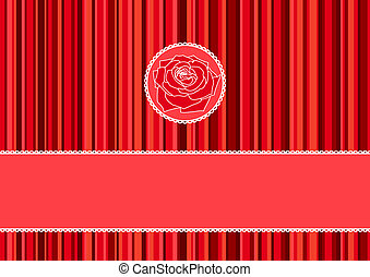 Greeting card with red roses vector illustration