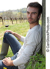 Wine producer with wine