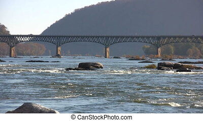 Potomac River Bridge - Pull back from a view of Highway 340...