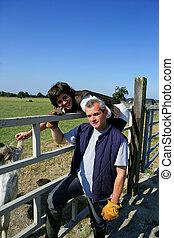 Couple at a paddock