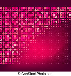 Abstract Red Dots Vector Background