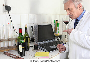 wine expert in lab