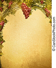 red grape at grunge background - Illustration of red grape...