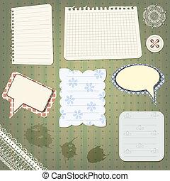 vector set of scrapbook design elements