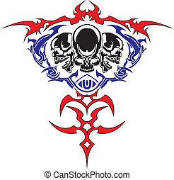 The vector image a skull
